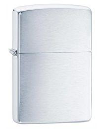 Plain Brushed Chrome Zippo Lighter BESTSELLER! - Zippo 200
